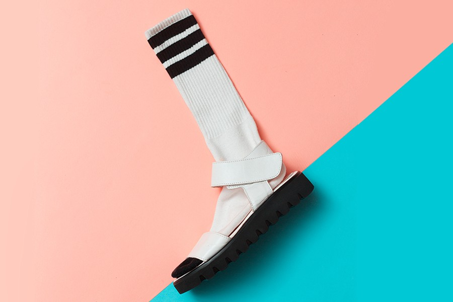 fa591c39f63d9 Why Are We Wearing Sandals With Socks? | MEL Magazine