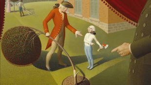 "Grant Wood, ""Parson Weems' Fable"" (1939)."