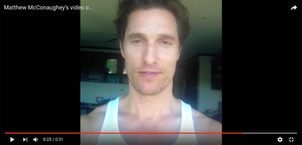 Image via Matthew McConaughey / YouTube