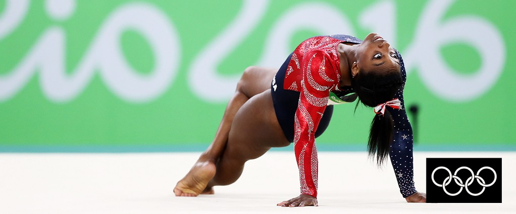 Simone Biles. Photo by Ezra Shaw