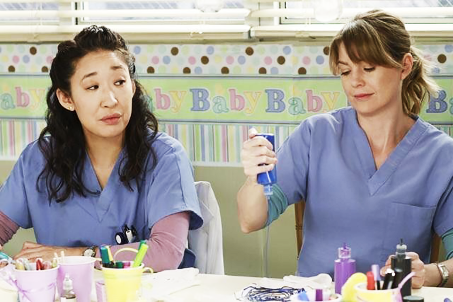 Sandra Oh and Ellen Pompeo in Grey's Anatomy (2005)