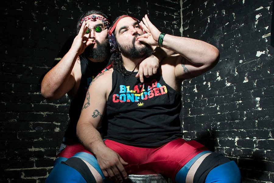 Derek and Dustin Mehl, aka the Stoner Brothers, run a wrestling school called Stoner University. (Image Courtesy of Pat Mazzera)