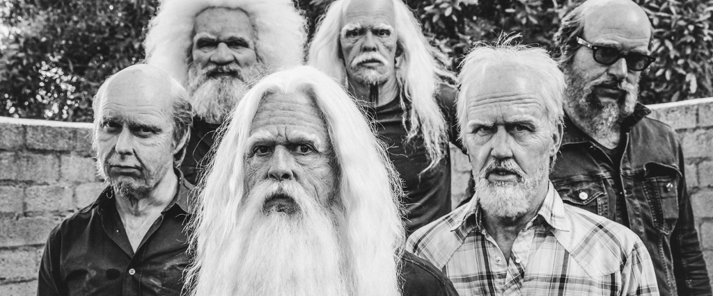 Foo Fighters, rocking the old-age makeup (Photo: Brantley Gutierrez)
