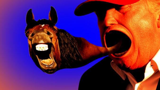 trump horse face stormy daniels