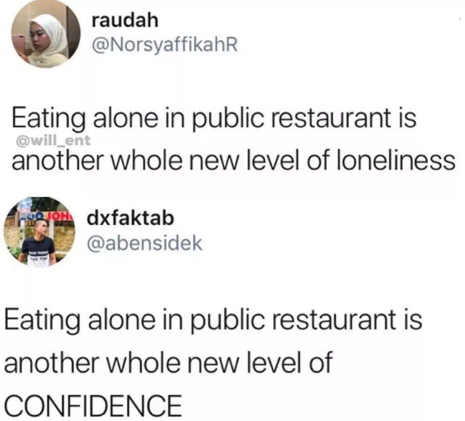Going Out To Eat Alone Is A Power Move