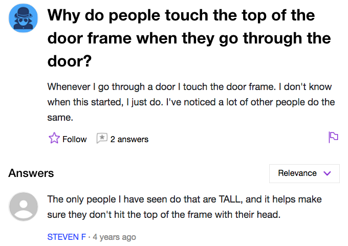 Top Do Magazine The Of Have Mel Always Doorframe Guys To Touch Why