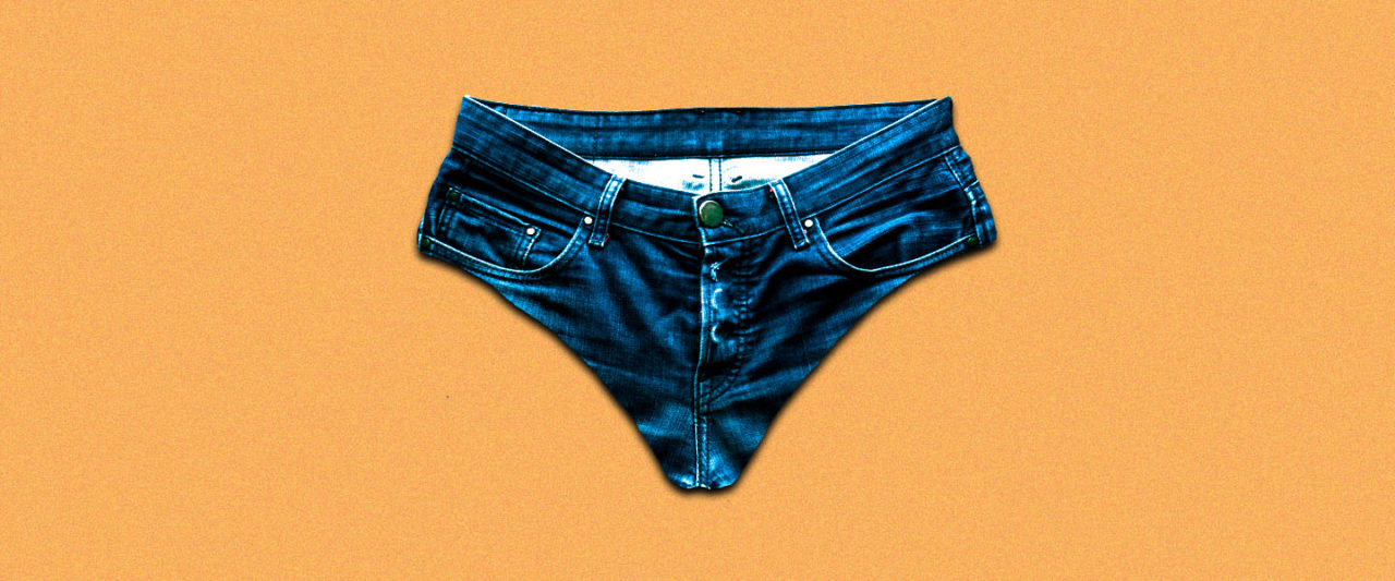 34950ec8825f Here's What Wearing Those Viral Denim Undies Would Do to Your Junk ...