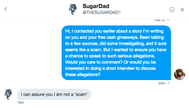 Is The Sugar Daddy Who Gives Away Tens of Thousands of Dollars On