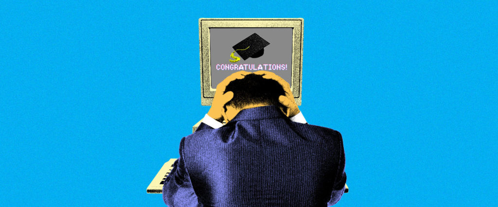 The Online Degree Was Easy. Scoring the Dream Job? Much Harder.