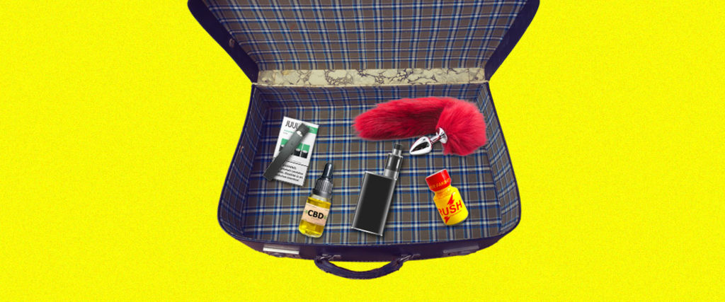 Can You Fly With Poppers, Juuls, CBD, Sex Toys and Booze?