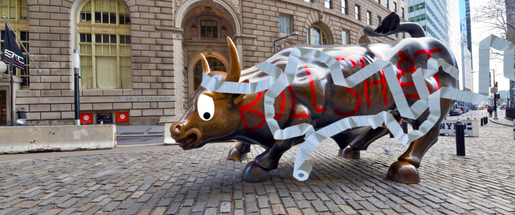Our 30-Year History of Trolling the Wall Street Bull