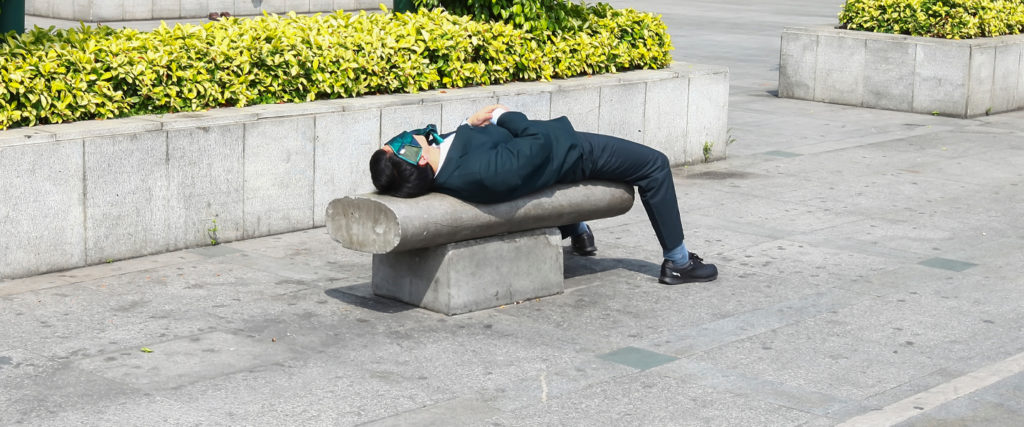 The Men Who've Mastered the Art of Sleeping at Work