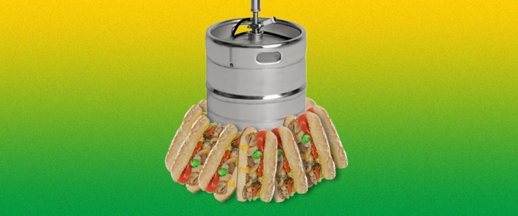 My Family Celebrates Christmas With a Keg and Subway Sandwiches