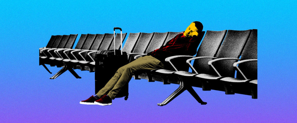 How to Get Some Sleep in an Airport