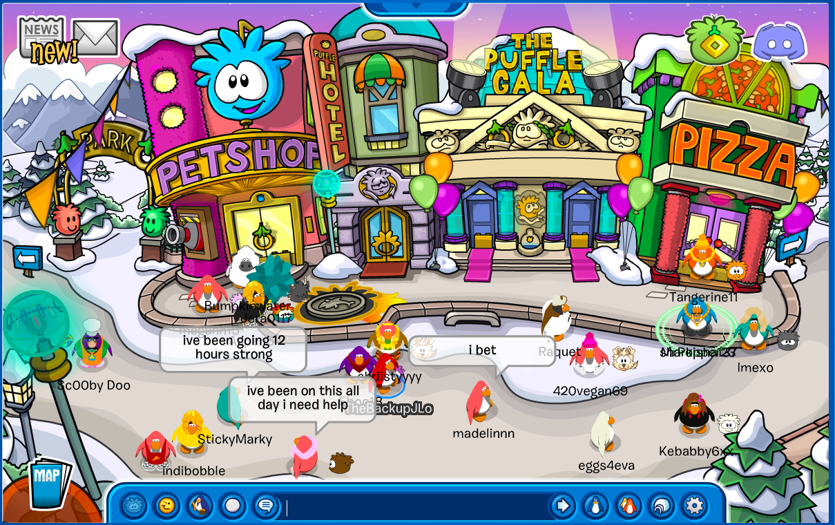 club penguin a free multiplayer game