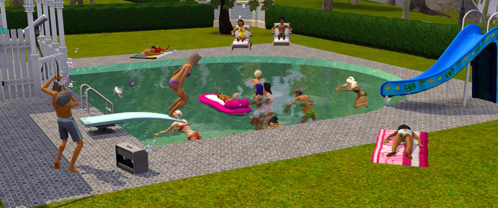 The Summer Pool Party of Your Dreams Is in 'The Sims'