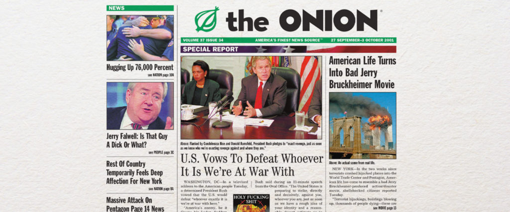 An Oral History of The Onion's 9/11 Issue